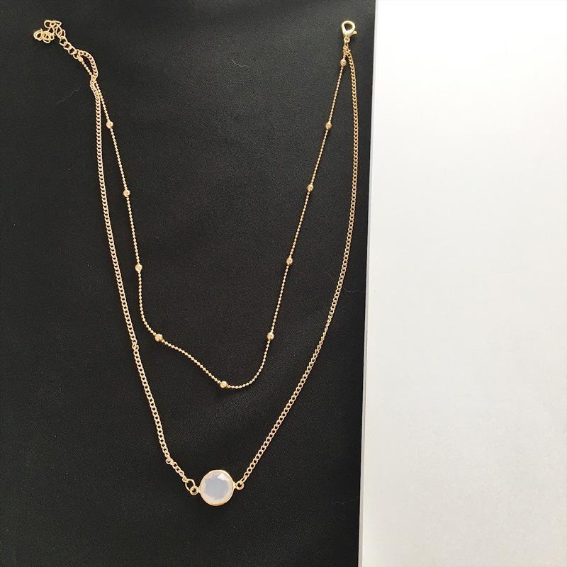 New Golden Couleur mutilayer double couche Collier Mode Femmes Collier court en gros et Dropshipping Bijoux X58