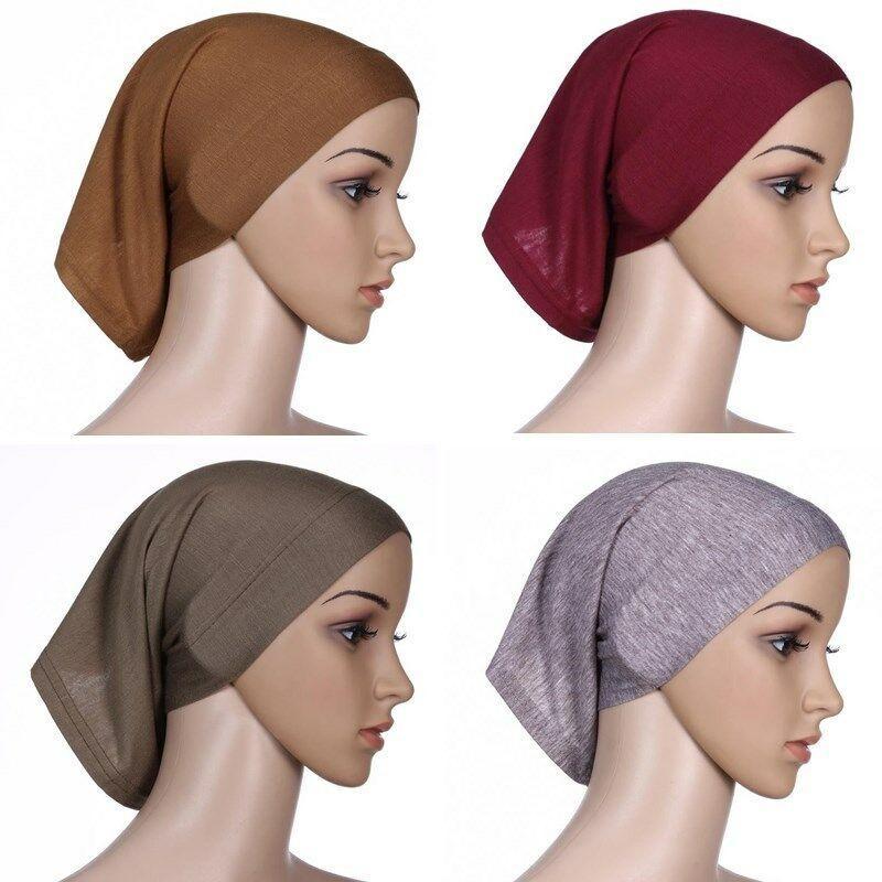 Мусульманские Женщины Головной Платок Underscarf Стрейч Хиджаб Крышка Headwrap Underscarf Cap Шаль Ислам Шарф Внутренняя Повязка Капот