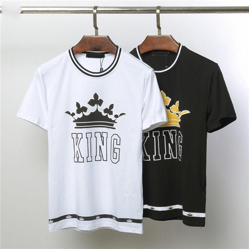 c1e56f3345 Mens Designer T Shirt Brand Women Men Tees New Arrival Summer Crown Pattern  T Shirt Luxury Casual Mens Womens Tees Hot Sell Men Top Clothing