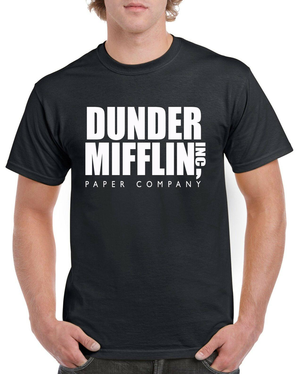 Dunder Mifflin Funny T-Shirt The Office TV Show Gift Funny free shipping Unisex Tshirt top