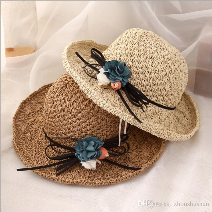 aa78a40752b 2019 New Handmade Straw Hat Fashion Trend Folding Travel Beach Hat High  Quality Cheap Women Hat Floppy Hat Kangol Hats From Zhoushushan