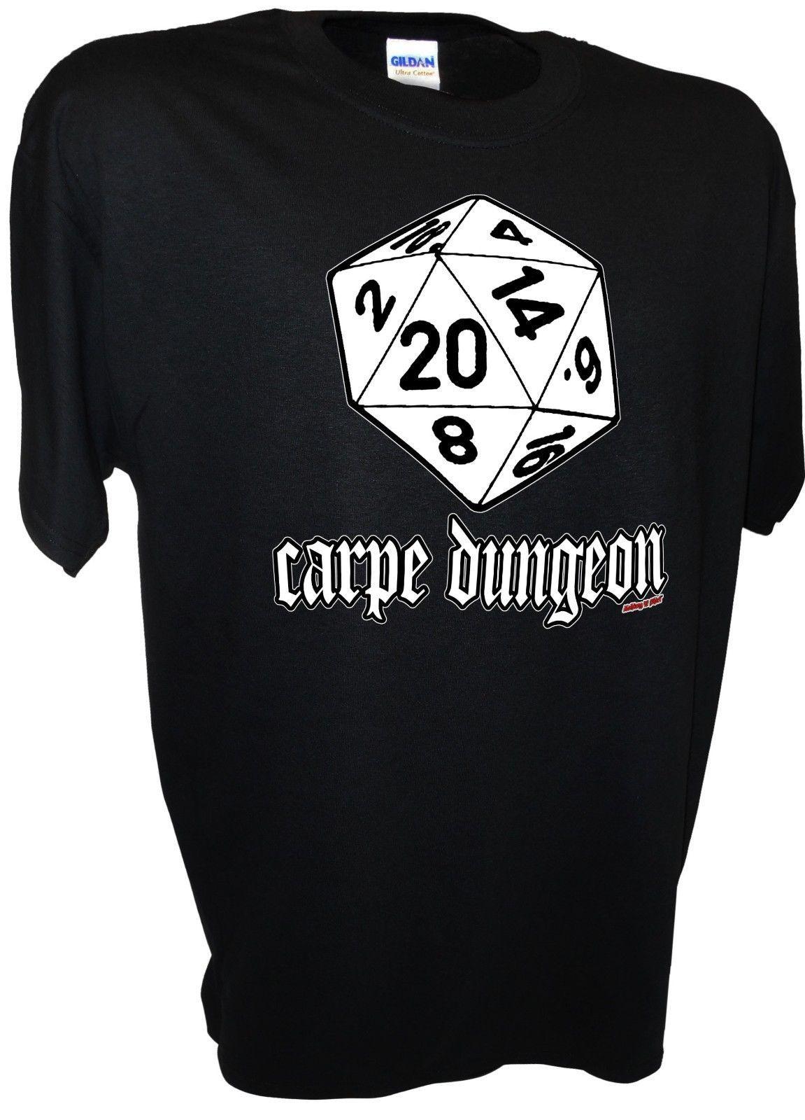49552d638 Carpe Dungeon D20 Wargaming Dragons Fantasy Gaming MMORPG 20 Side Dice RPG  Tee Summer Hot Sale Men T Shirt Top New Tee Print Cloth T Shirt Shirt Site  From ...