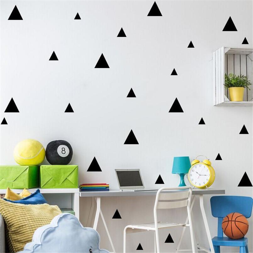 DIY triángulos pegatinas de pared calcomanías de vinilo decoración de arte moderno Kids Room Wall Simple y creativo de múltiples tamaños extraíble pegatinas de pared