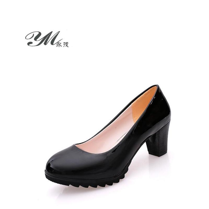542386571 Compre Diseñador De Zapatos De Vestir YM 2019 Primavera Y Otoño 6 CM Nueva  Moda Impermeable Mujer Casual Mujer Tacones Altos Etiqueta Trabajo A  21.1  Del ...