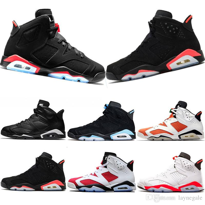 e85aba9147f839 2019 Basketball Shoes 6 6s New Infrared Bred Oreo Mens Shoe White Infared Black  Black Cat Carmine Trainers Sports Sneaker Shoes Size 7 13 Girls Basketball  ...