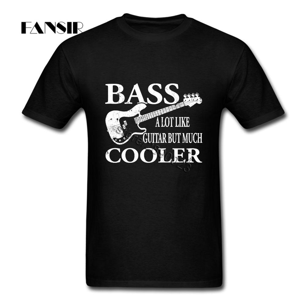 Bass A Lot Like Guitar But Much Cooler Short Sleeved T-shirts Man Rock Shirt Pure Cotton Crew Neck Men's T-shirt For