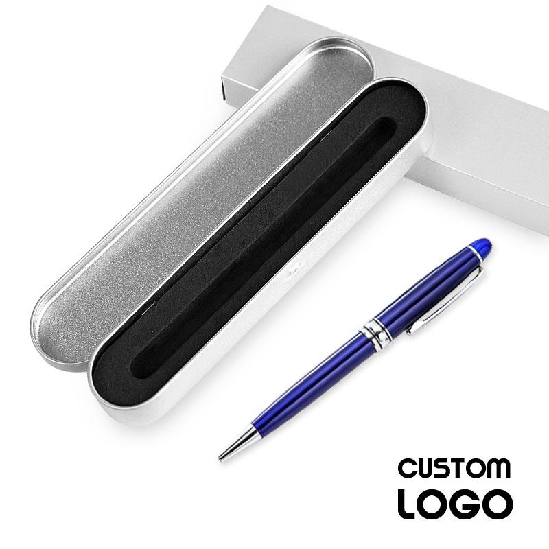 Personalized Pen Luxury Writing Metal Ballpoint Gift Pens Custom Logo Company Name Office Supplies Accessories Stationery School