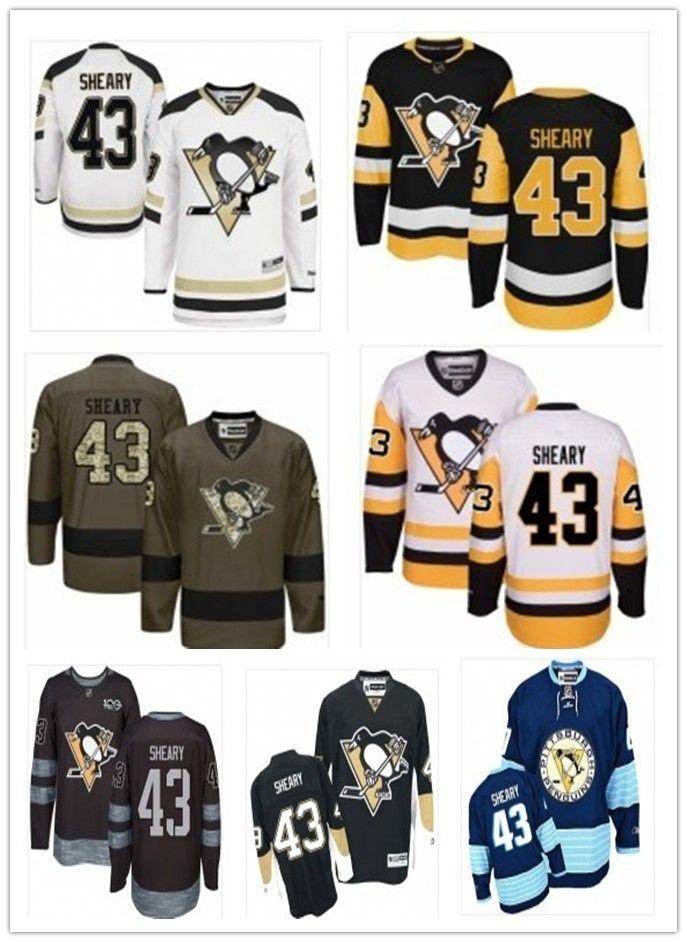 3f33a7633d74 2018 Pittsburgh Penguins Jerseys  43 Conor Sheary Jerseys Men WOMEN ...