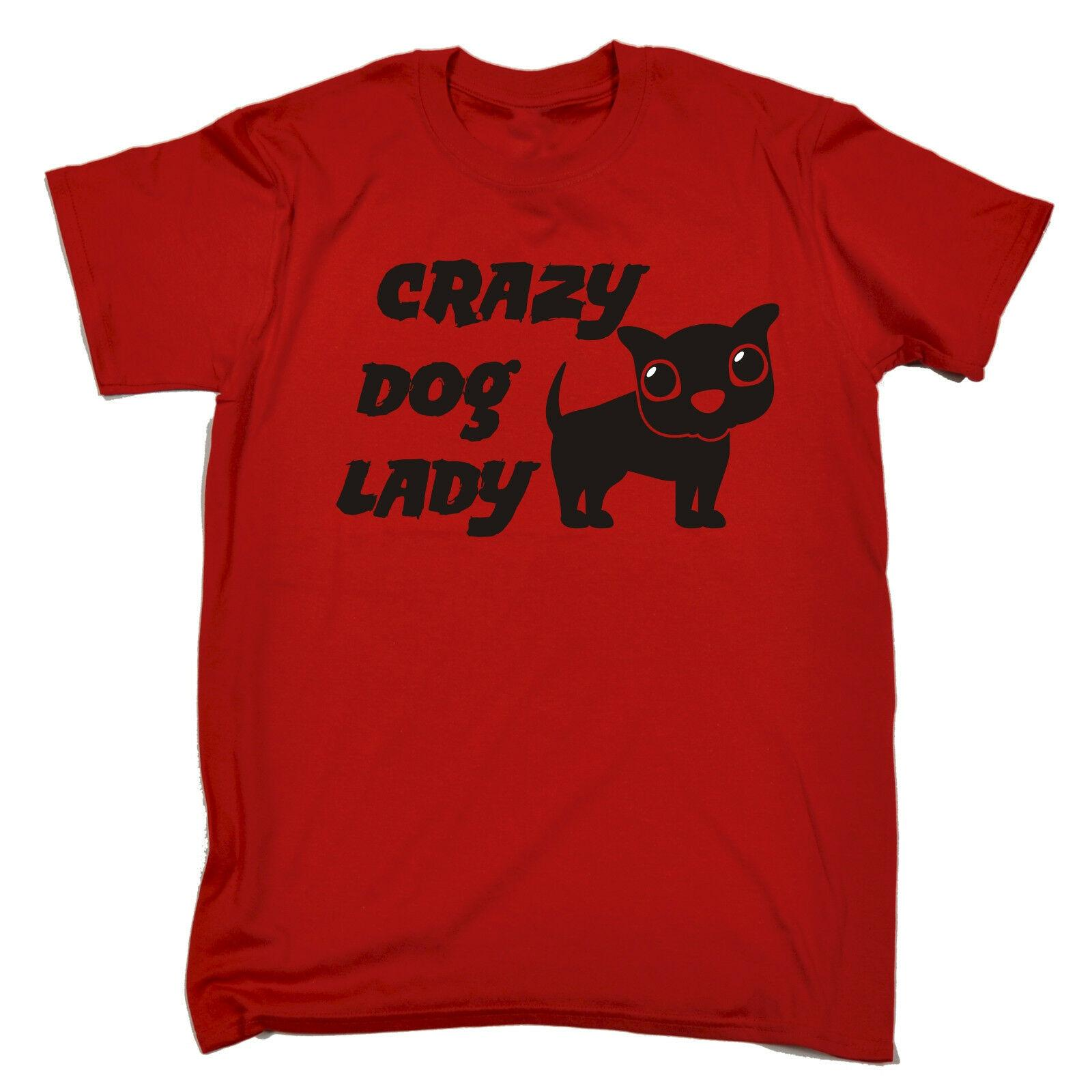 Crazy Dog Lady MENS T SHIRT Tee Birthday Cute Puppy Mum Auntie Grandma Funny Men Women Unisex Fashion Tshirt Shirt Sites 1 From