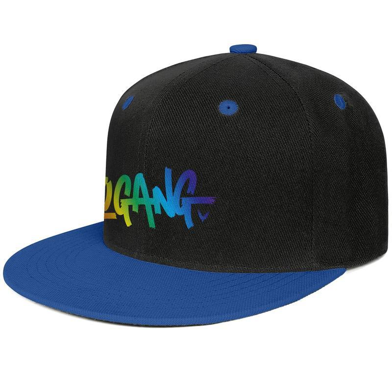 Logan Paul Online video Rainbow color Blue mens and womens trucker flat brim cap design fitted golf sports vintage custom stylish classic f
