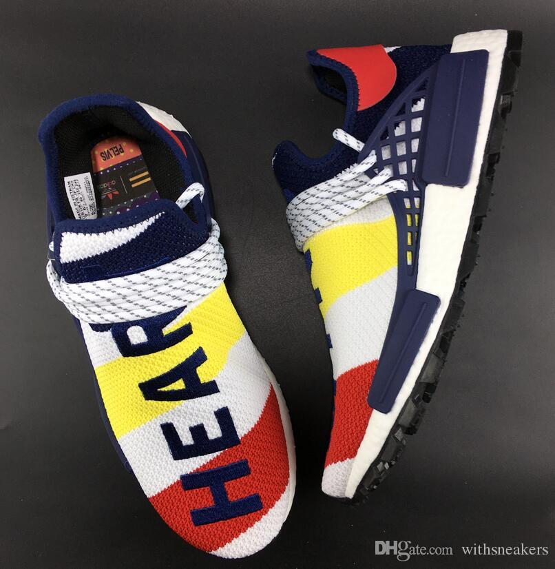 d9449afe5 Top Quality BBC X Hu NMD Trail Heart Mind Cloud White Scarlet Blue BB9544  Sport Designer Shoes Sneakers Size 36 45 Discount Shoes Mens Loafers From  ...
