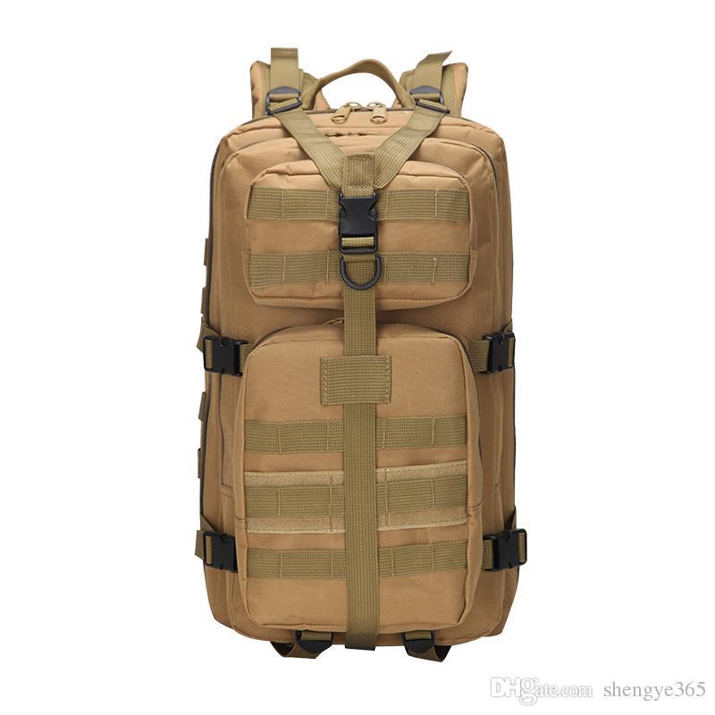 18688cc68044 3P attack tactical backpack outdoor shoulder hiking backpack waterproof  camouflage bag 35L medium 3P bag 800D waterproof encryption Oxford