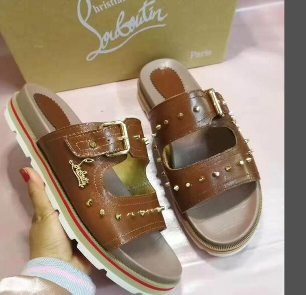 wholesale dealer ca76c 1fe65 Christian Louboutin CL Fashion classic men's sandals casual shoes a4