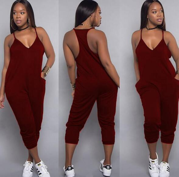 Fashion designer Women Jumpsuits Rompers a variety of colors casual jumpsuits European American trend sexy tights large size womens clothing