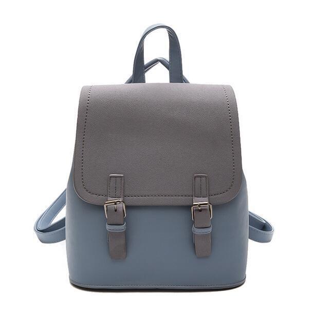 cd00bb05f1f3 2019 Fashion New Women Backpack School Bag High Quality Scrub Pu Leather  Female Bag College Wind Hit Color Travel Books Rucksack Swiss Gear Backpack  Osprey ...