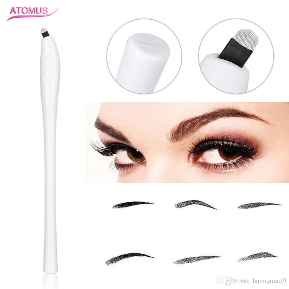 1pc Disposable Microblading Manual Pen with 18Pin U Shape Needles Eyebrow Tattoo Supplys Medical Grade Tool