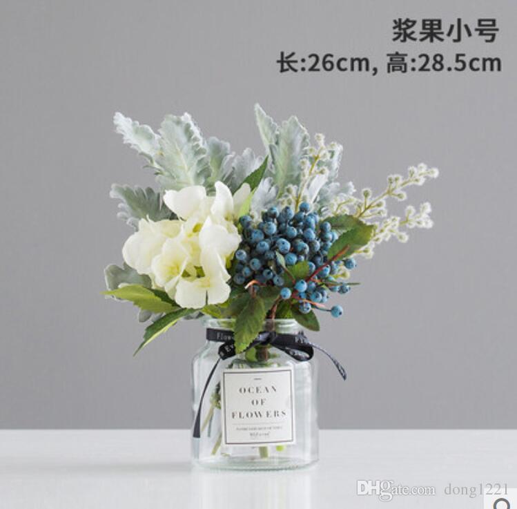 745a534a0f Compre Nordic Pequeña Flor De Seda Fresca Flores Artificiales Flores  Artificiales Florero Decoración Adornos Mesa Floral Conjunto A $39.19 Del  Dong1221 ...