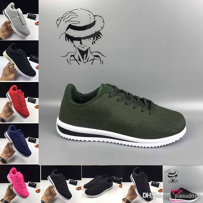 669484c8c Most Popular 2018 Classic Shoes 5.0 Cortez Basic Leather Casual Shoes  Zapatillas Men Women Black White Red Golden Sneakers Size 36 45 Mens Boat  Shoes Boat ...