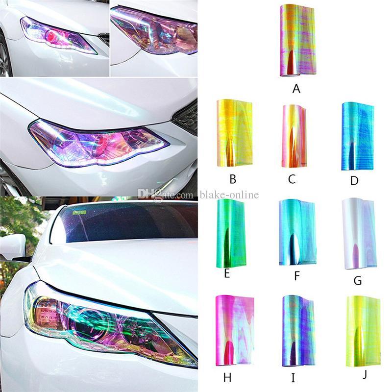 Lampada auto Pellicola fari Adesivi fanali posteriori Adesivo fogli di pellicola in vinile 30 * 60CM Lampada fari proiettori con styling automatico