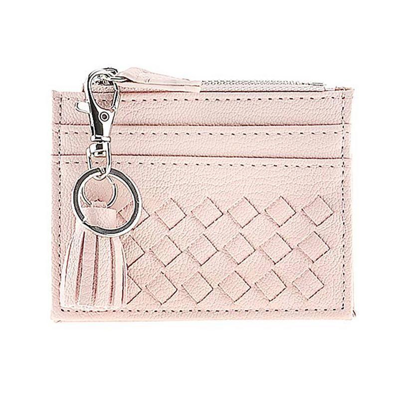 d2634e8d2 Leather Compact Coin Purse Bag Wallet Credit Card Case Organizer Zipper  Wallet Key Ring Fashion Coin Holder Purses Bags Pouchs Best Handbags Small  Purse ...