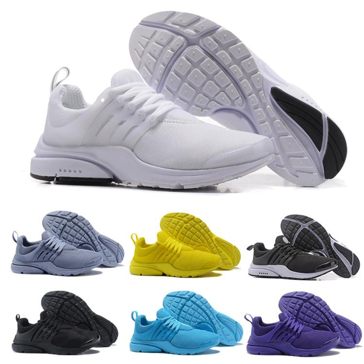 best sneakers 21675 c1d7c 2018 Prestos 5 Running Shoes Men Women Presto Ultra BR QS Yellow Pink Oreo  Outdoor Fashion Jogging Sneakers Shoes Size US 5.5 11 Boat Shoes For Men  Navy ...