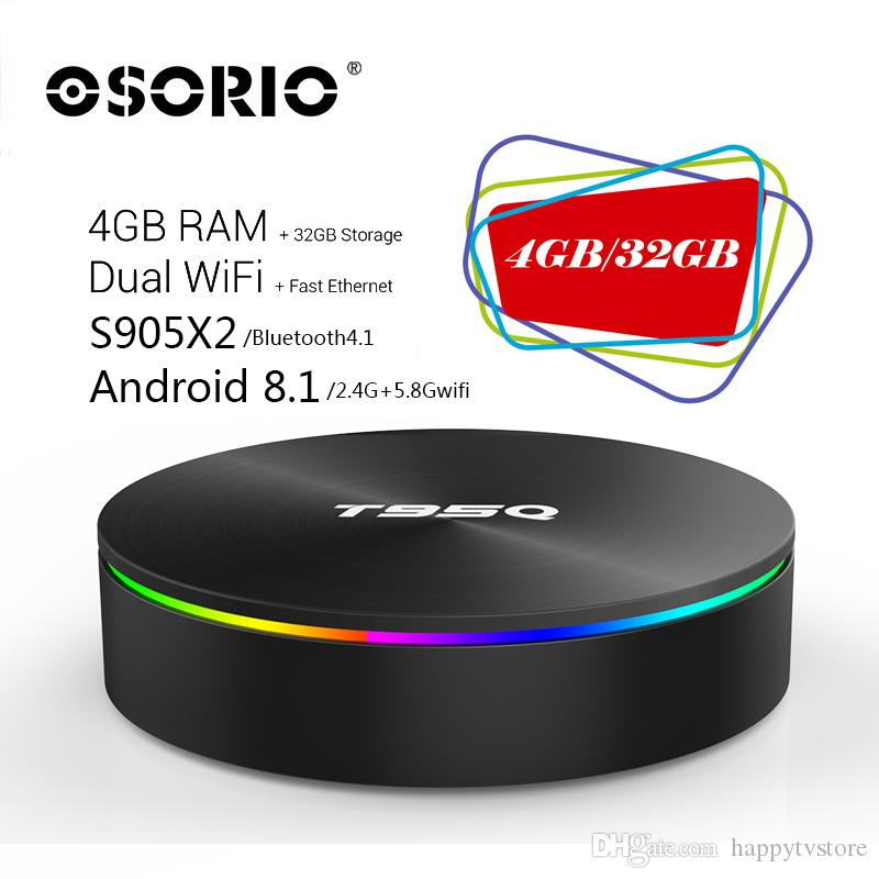 T95Q 4GB RAM 32GB ROM Android 8 1 Smart TV Box Amlogic S905X2 Quad Core  Bluetooth 2 4G/5 8G Dual Band Wifi Gigabit 4K Set Top Box