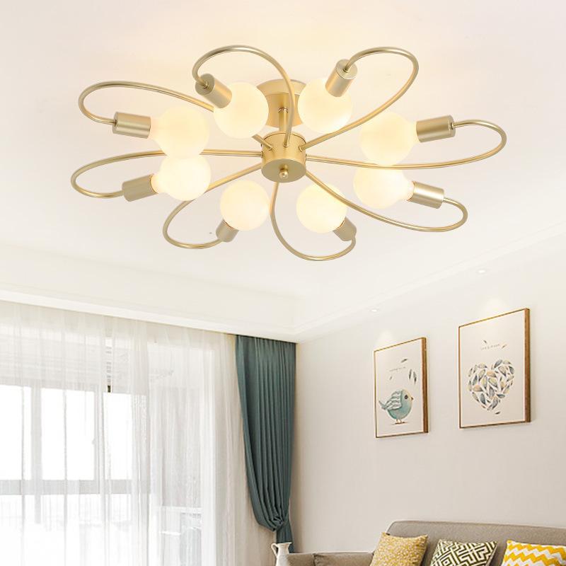 Großhandel Moderne LED Kronleuchter Decke Glaskugel Lampen Nordic ...