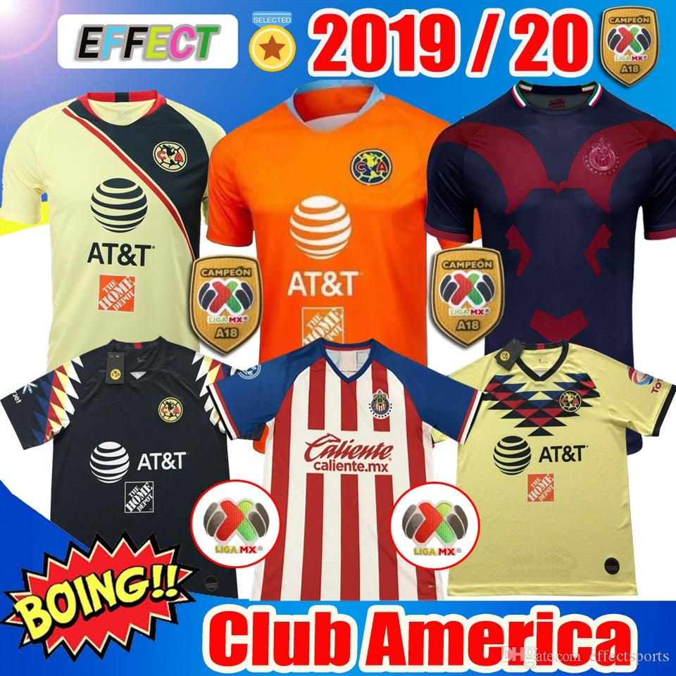 fef53ad0756 2019 Perfect New 2019 Club America Soccer Jerseys 2020 LIGA MX Home Away  Third Soccer Jersey 18 19 20 Apertura A18 CAMPEON Football Shirts From  Effectsports ...