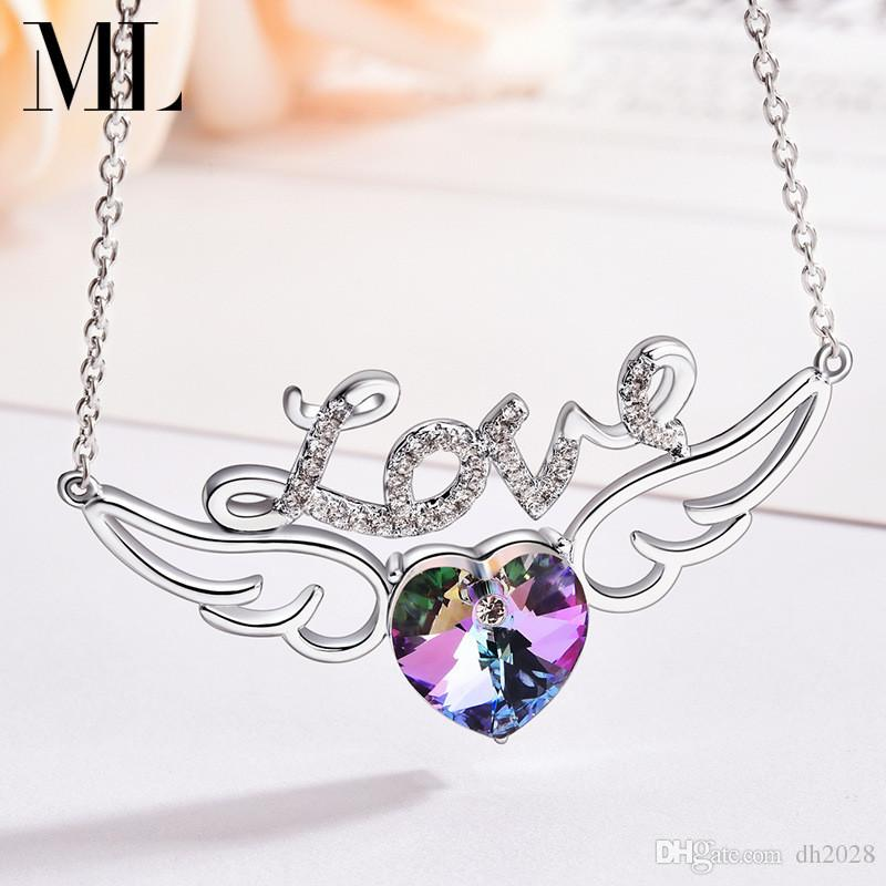 Angel Wings Necklace Nightclub Street Dance Hip Hop Necklace Jewelry Outdoor Sports Party Designer Necklace Free Shipping