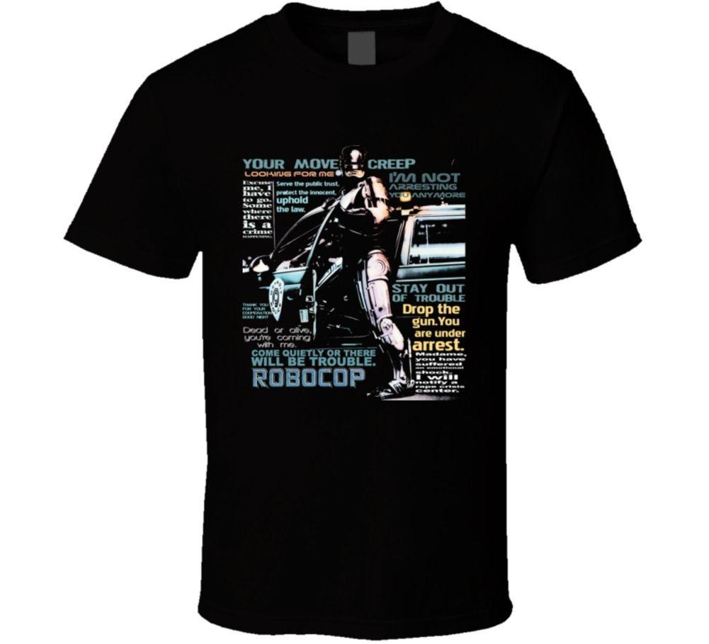 Robocop Murphy Quotes Funny Action Movie Fan T Shirt Fear Cosplay
