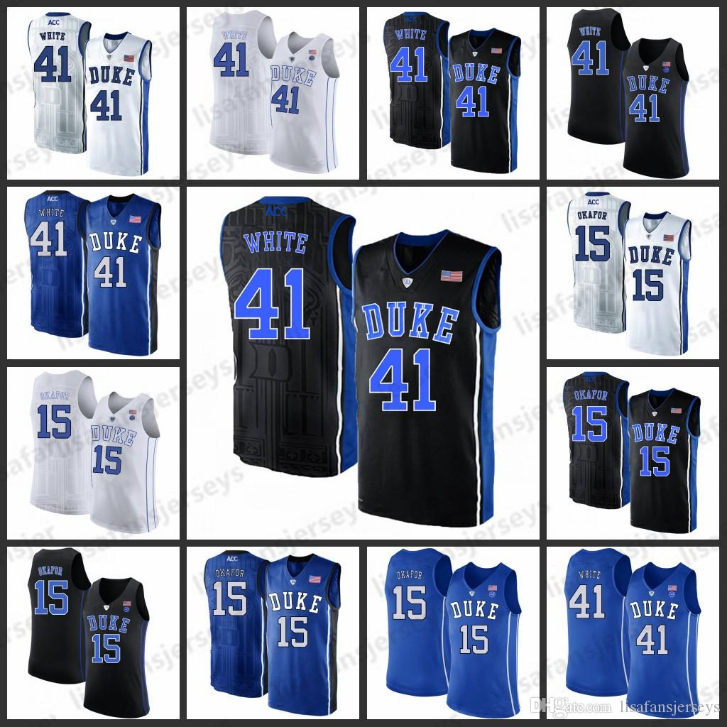 394d203e931 2019 Duke Blue Devils Basketball Jerseys Mens 41 Jack White 15 Jahlil Okafor  2019 Stitched College Duke Blue Devils Basketball Jersey From  Lisafansjerseys, ...