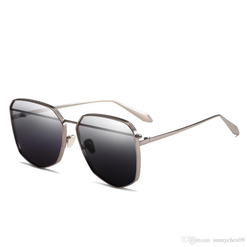 185526470921 Simple Fashion European Style Brand Designer Sunglasses Metal Frame ...