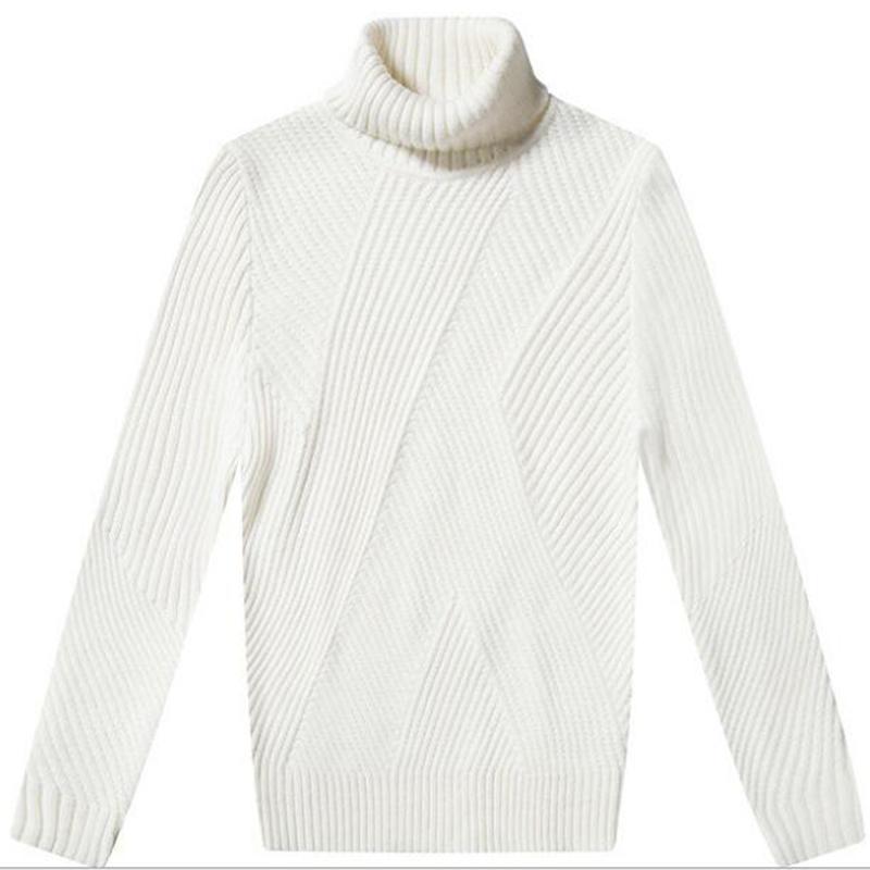 Compre Suéteres Blancos De Los Hombres Del Estilo Coreano Suéteres ...