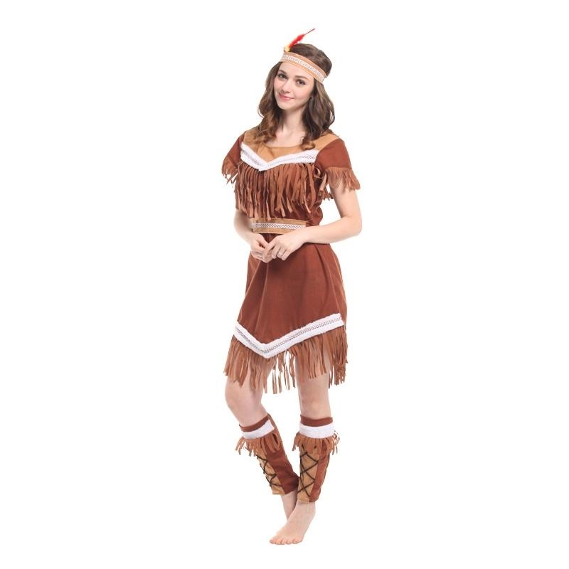 330c2824f0a Assels Queen Halloween Costumes For Women Plus Size Womens Pocahontas  Native American Indian Wild West Fancy Dress Party Tassels Indian .