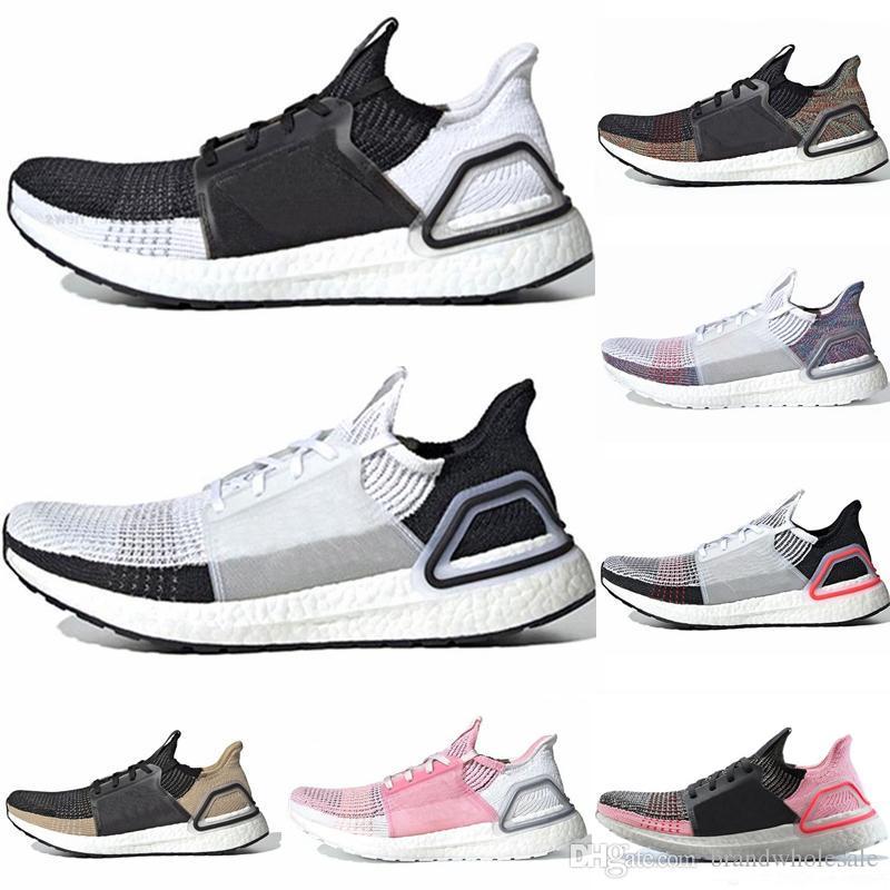 694fb0052 2019 Hot Sale Men Women Running Shoes Ultraboost 5.0 Laser Red Dark Pixel  Core Black Real Ultra Boosts 19 Trainer Sport Sneakers Shoes On Sale Ladies  ...