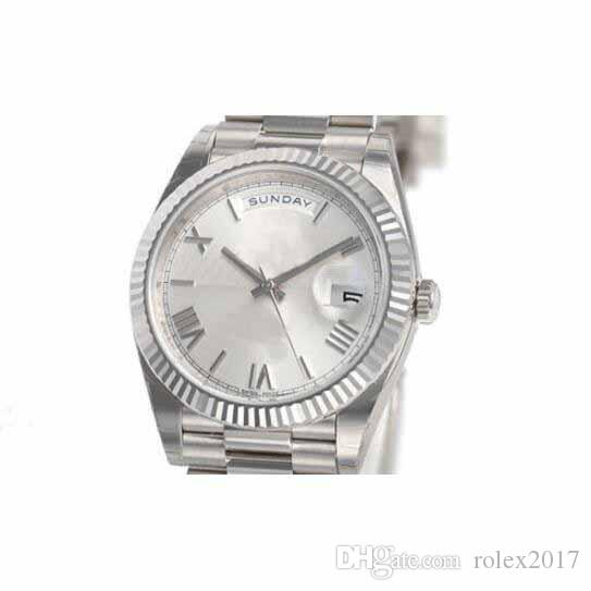 1a6b0d0402a81 Mens DAY DATE President 40MM 228239 Mens White Gold Silver Quadrant Motif  Dial 2831 Automatic Movement Sport Textured Wristwatches Watches Buy Online  Buying ...