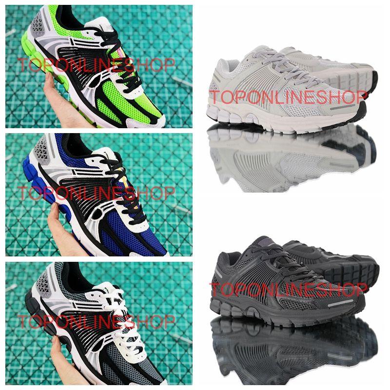 2019 Authentic Wall x Vomero 5 Chaussures de sport baskets respirantes Marathon gris vert vert avec sa boîte d origine
