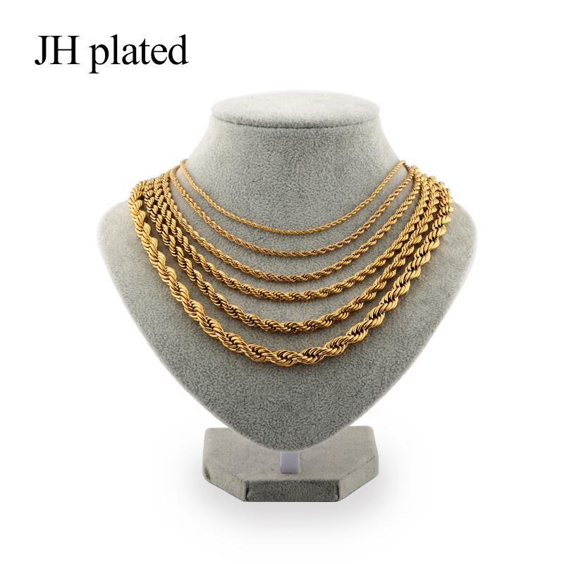 7458604d6125d JHplated Gold Chain necklaces for Women Girls Dubai Arab Ethiopian African  Jewelry Chain of fashion Jewelry