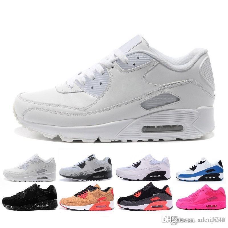 the latest b1f30 0df48 Compre Nike Air Max 90 Nuevo Multicolor Venta Al Por Mayor De Alta Calidad Para  Hombres Y Mujeres 90 Ultra Sneaker Cojín De Aire Original De Los Hombres ...