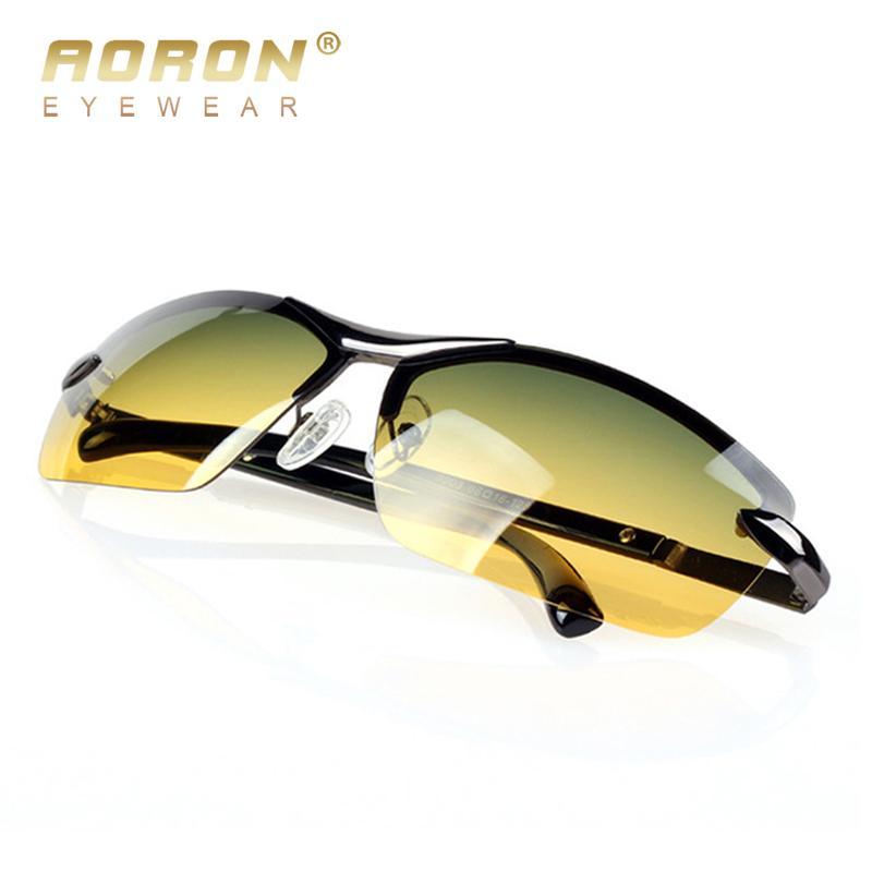 71bfa93864 Compre AORON Gafas De Sol Polarizadas Para Hombres Gafas Para El Día Y Para  La Noche Multifunción Vison Glare Glare Gafas LOGO Caja Original Gafas De  Sol A ...