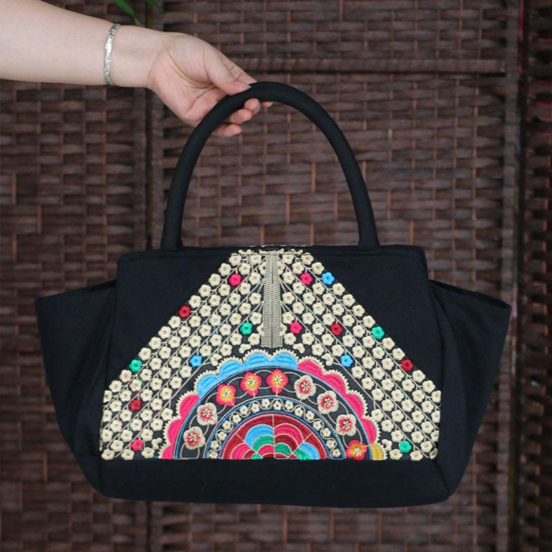 National Trend Chinese Ethnic Embroidery Canvas Bag Hmong Boho Thai Tassel Embroidered  Bags Luxury Famous Brand Logo Handbags Womens Purses Leather Bags For ... f86e7cadcf5c2