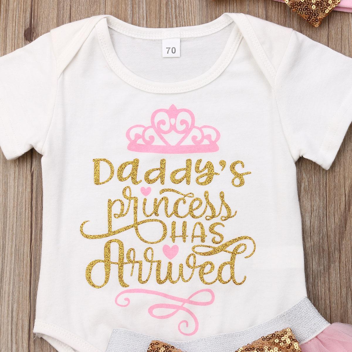 Bébé layette Tutu Tulle Bow Rose Jupes Lettre d'impression O-cou à manches courtes Bodysuit de Tenues enfants
