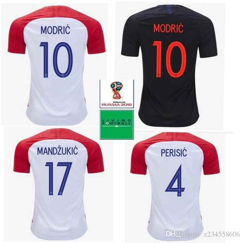 46004ee39 2018 World Cup Croatia Soccer Jersey 10 MODRIC 4 PERISIC 7 RAKITIC ...
