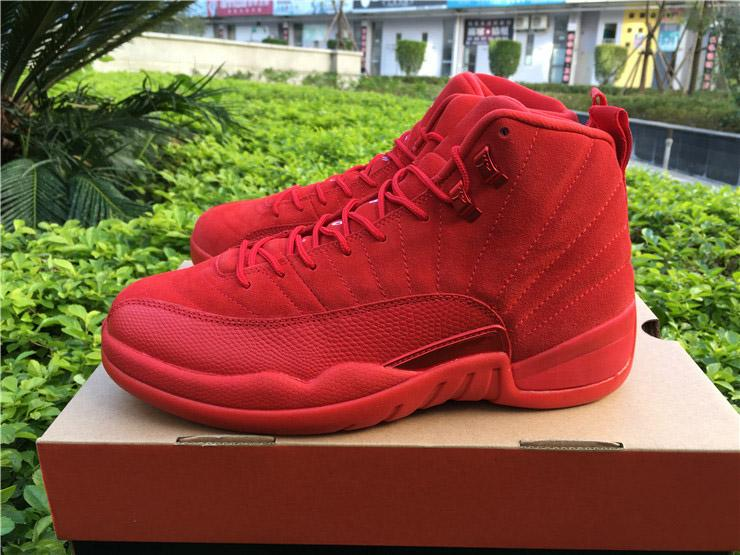 new arrival e541c ddf2f 2019 Newest Release 12 Gym Red 12S Men Basketball Shoes For Men Women  Authentic Gym Red 130690-601 Real Carbon Fiber Athletic Sneakers