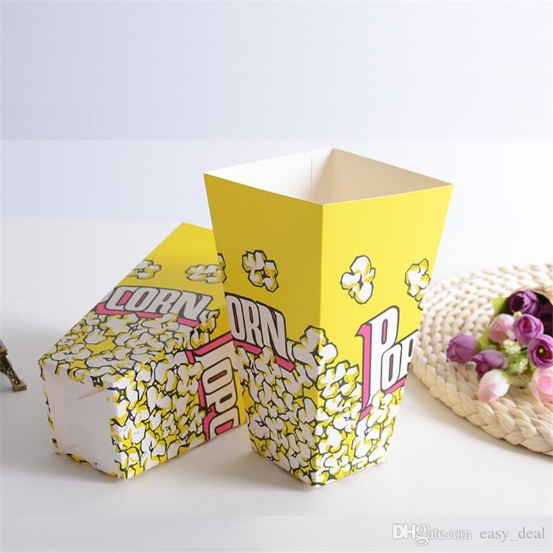 Carta Popcorn Scatole asporto Alimenti Borsa Birthday Party Snack Food Box Protable pieghevole Popcorn Bag yq00837