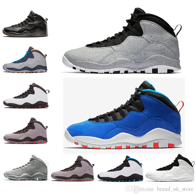 premium selection 5ebf6 cfa5a 2018 Wholesale New Mens Basketball Shoes 10 Tinker Cement 10s Mens Shoe  Bobcats Cool Grey Iam Back Powder Blue Trainers Sports Sneaker Shoes 8 13  From ...
