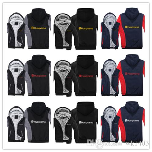 Winter Husqvarna Hoodies Men Fashion Coat Pullover Wool Liner Jacket Husqvarna Motorcycle Sweatshirts Hoody