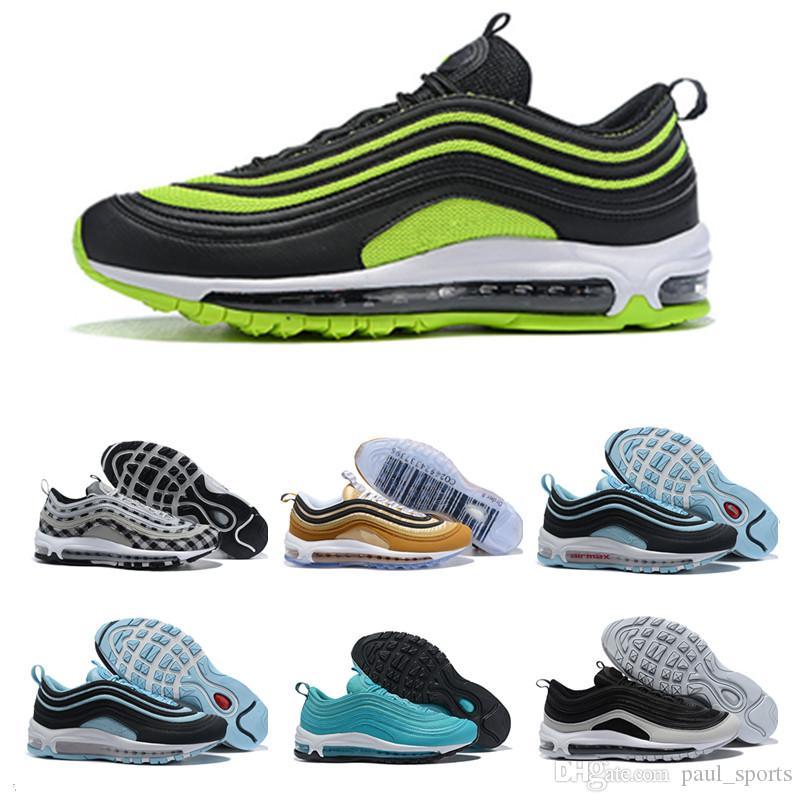 lowest price 86d64 a4a4d Acquista Nuovo Arrivo 2019 Designer 97 Plus Scarpe Da Corsa La Migliore  Qualità 97s Nero Giallo Blu Verde Uomo Donna Jogging Sneakers Taglia 36 46  A  50.78 ...