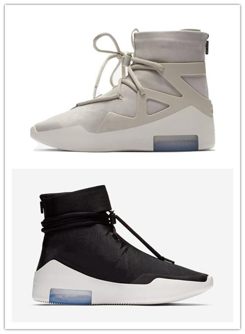0d9cc8e878d1 Top 2019 Authentic Air Fear of God 1 Boots Light Bone Grey Black ...