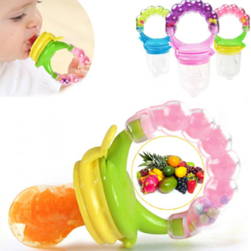 Pacifier newborn safe baby feeding pacifier fruit vegetable feeder child trainning feeding tool fresh food feeder bell toy